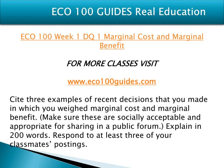Eco 100 guides real education1