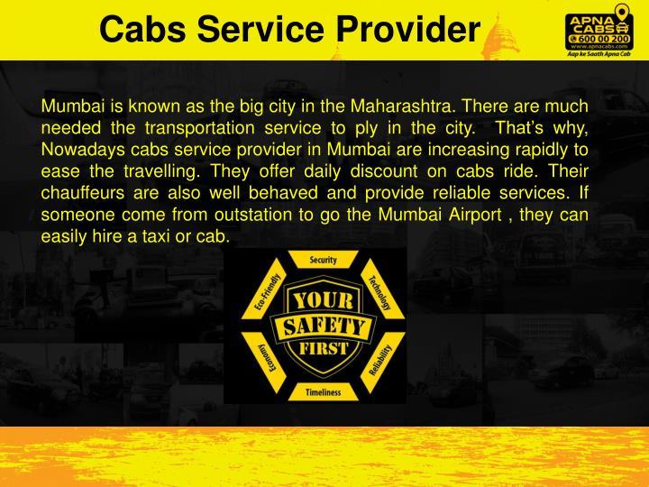 Cabs Service Provider