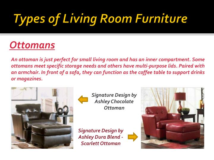 Ppt Types Of Furniture For Your Living Room Powerpoint