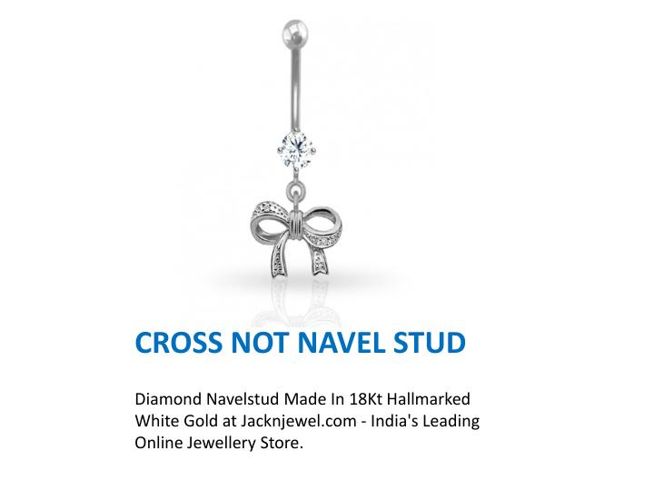 Cross not navel stud