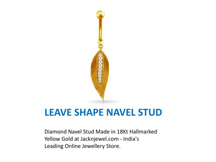 Leave shape navel stud