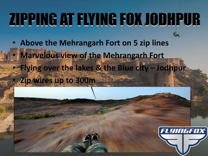 ZIPPING AT FLYING FOX JODHPUR