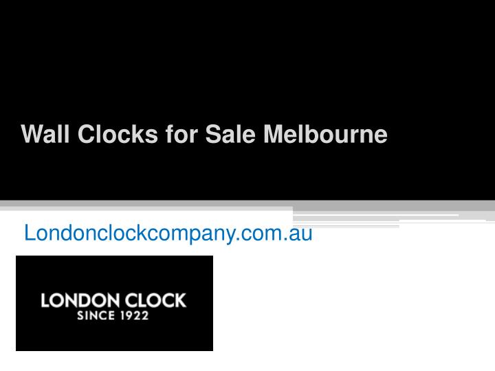 Wall clocks for sale melbourne
