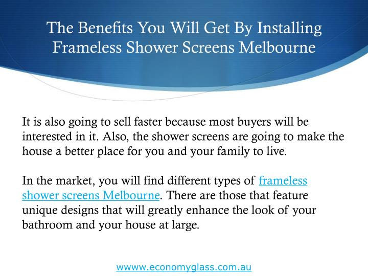 The Benefits You Will Get By Installing Frameless Shower Screens Melbourne