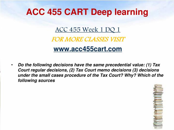 Acc 455 cart deep learning1