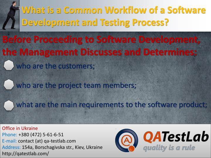 What is a common workflow of a software development and testing process1