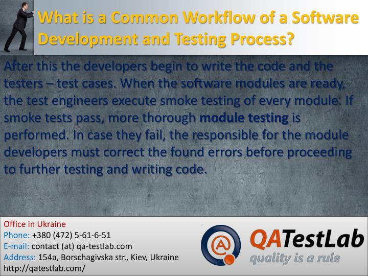 What is a Common Workflow of a Software Development and Testing Process?