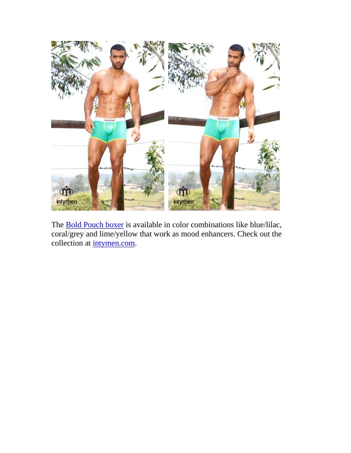 The Bold Pouch boxer is available in color combinations like blue/lilac,