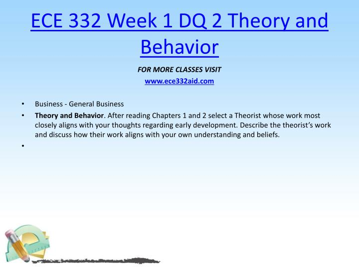 ECE 332 Week 1 DQ 2 Theory and