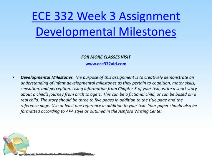 ECE 332 Week 3 Assignment Developmental Milestones