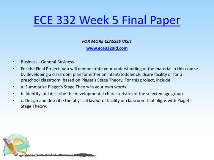 ECE 332 Week 5 Final Paper