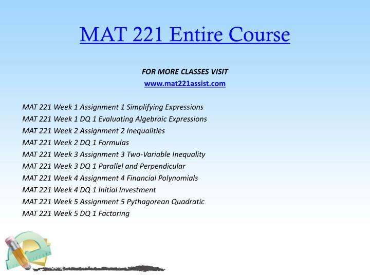 Mat 221 entire course