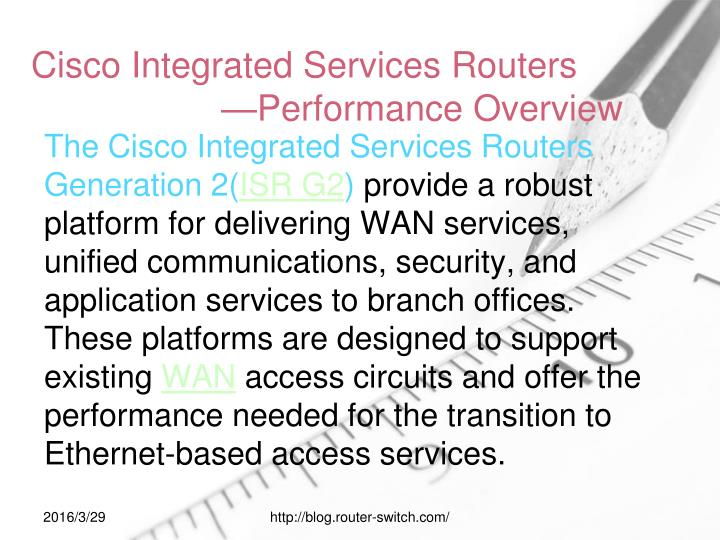 Cisco integrated services routers performance overview