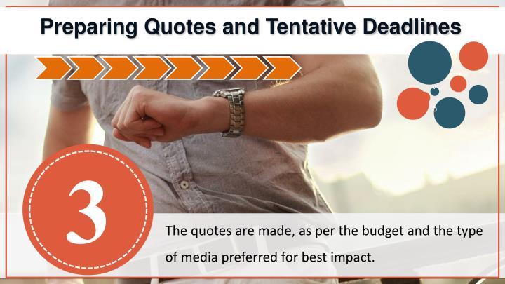 Preparing Quotes and Tentative Deadlines