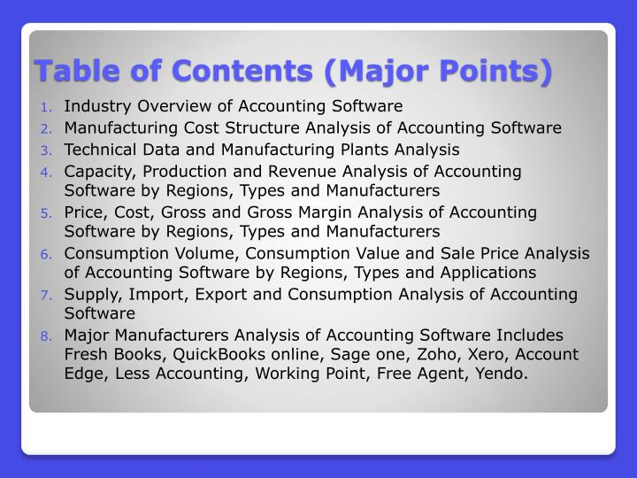 Industry Overview of Accounting Software