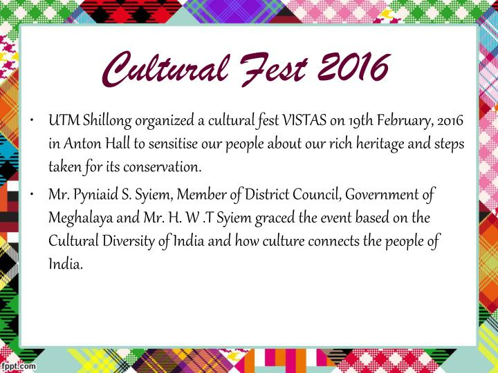 Cultural Fest 2016