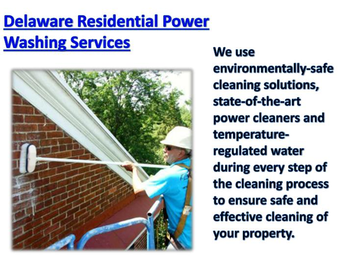 Delaware Residential Power Washing Services