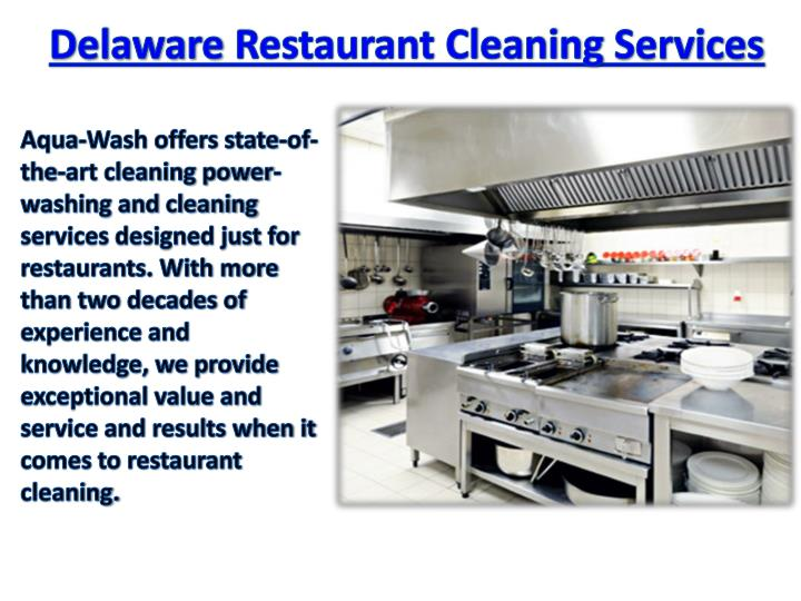 Delaware Restaurant Cleaning Services