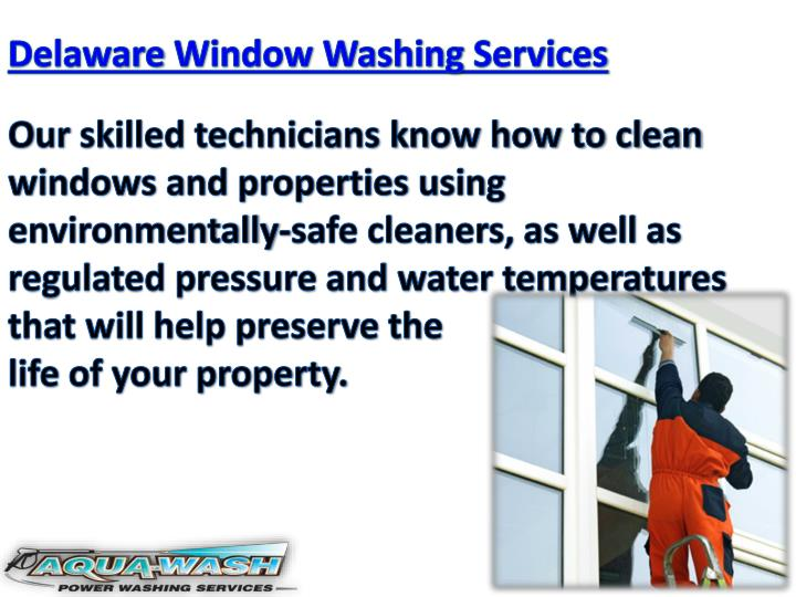 Delaware Window Washing Services