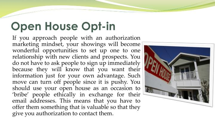 Open House Opt-in