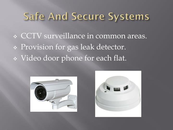 Safe and secure systems