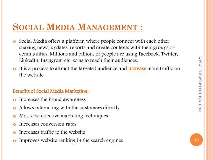 Social Media Management :