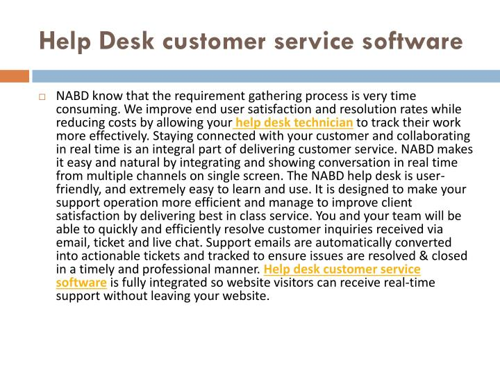 Help desk customer service software1