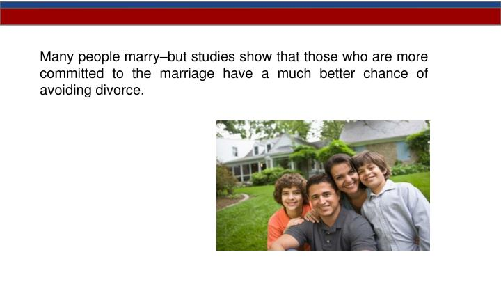 Many people marry–but studies show th