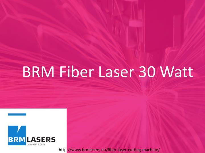 BRM Fiber Laser 30 Watt
