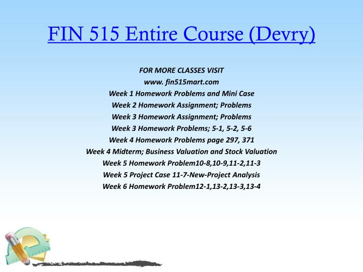 FIN 515