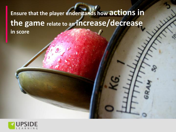 Ensure that the player understands how