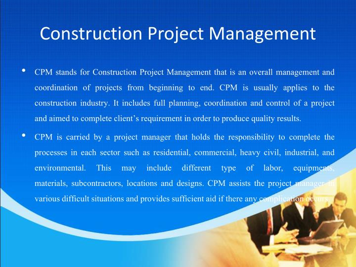 the importance of project management construction essay The importance of design and preparing detailed drawings july 24, 2013 11:20 am by ted goodnow planning a construction or renovation project is exciting and sometimes frustrating.