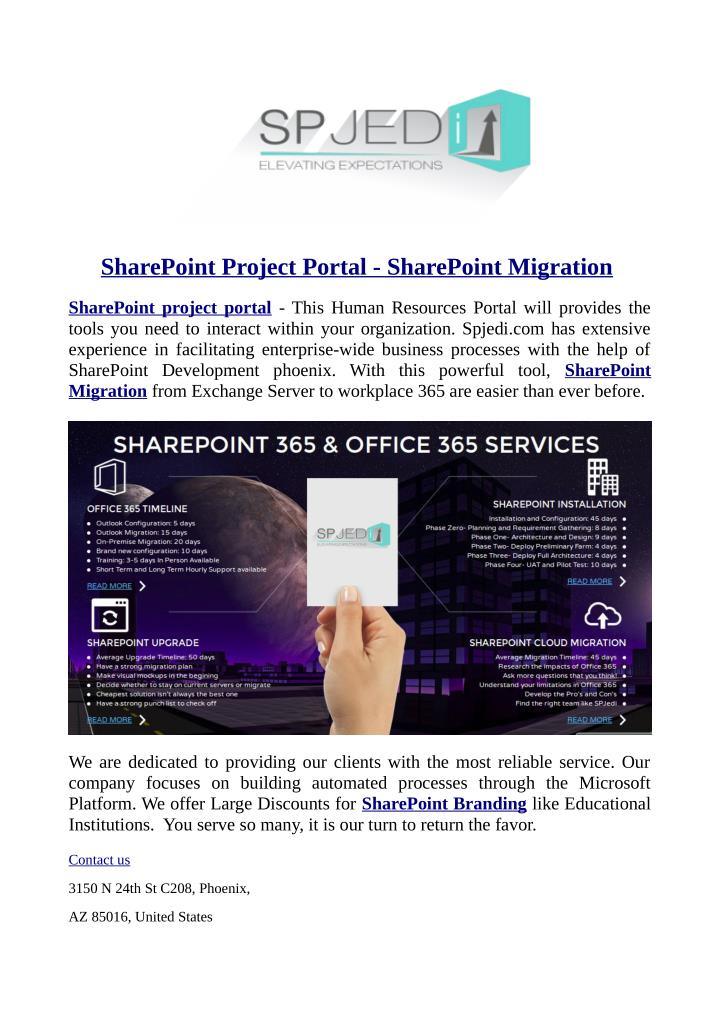 SharePoint Project Portal - SharePoint Migration