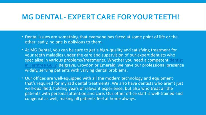 Mg dental expert care for your teeth