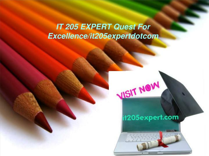 It 205 expert quest for excellence it205expertdotcom