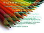 it 205 expert quest for excellence16