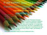 it 205 expert quest for excellence4