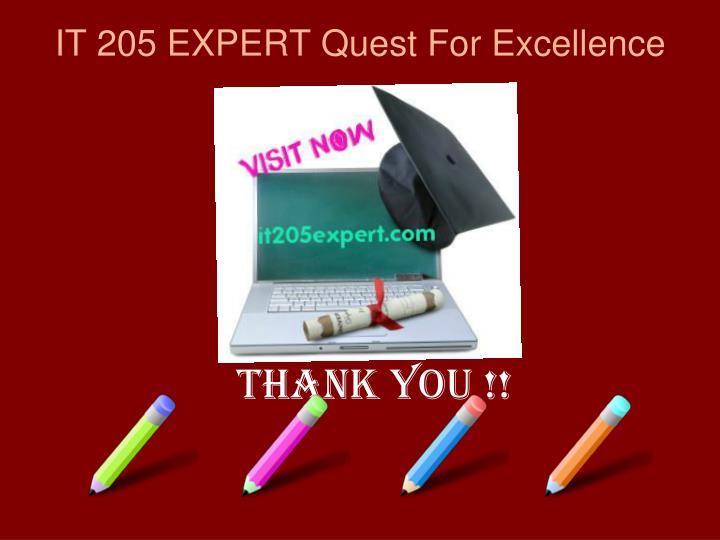 IT 205 EXPERT Quest