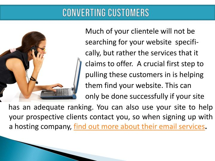 CONVERTING CUSTOMERS