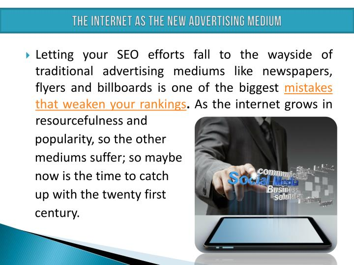 THE INTERNET AS THE NEW ADVERTISING MEDIUM