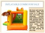 inflatable combo for sale