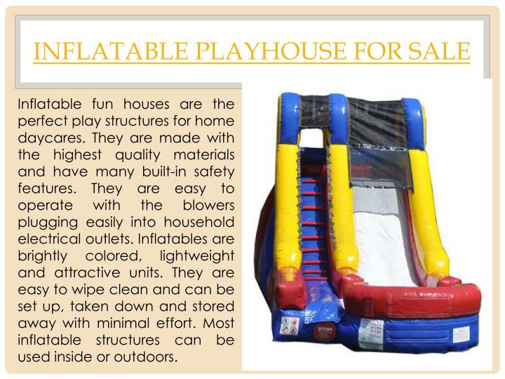 inflatable playhouse for sale