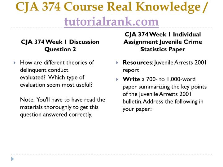 CJA 374 Course Real Knowledge /