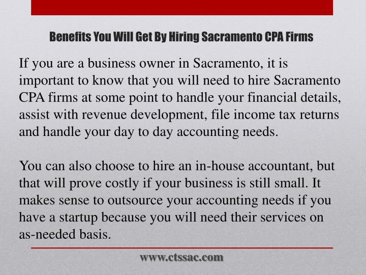 Benefits you will get by hiring sacramento cpa firms1