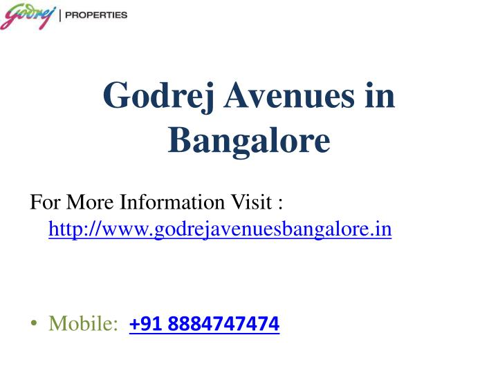 Godrej Avenues in Bangalore