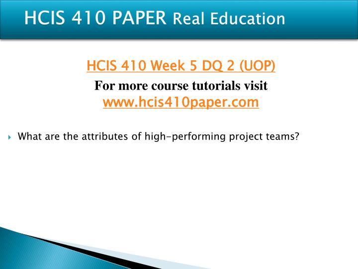 HCIS 410 PAPER
