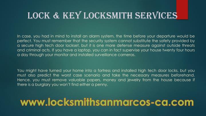 Lock & key Locksmith Services