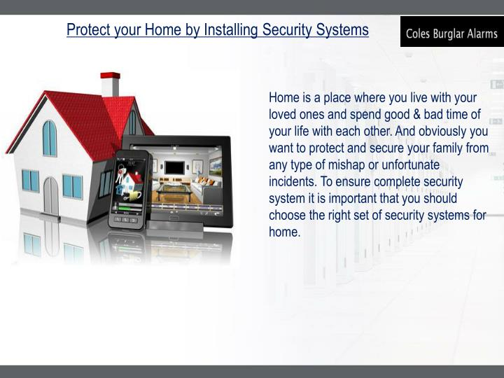 Protect your Home by Installing Security Systems