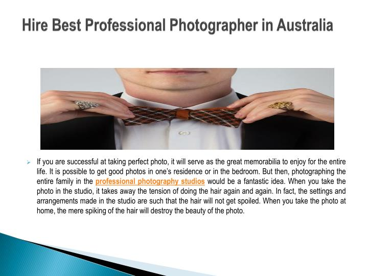 Hire best professional photographer in australia