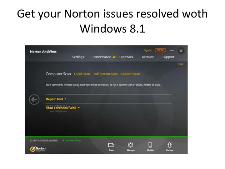 Get your Norton issues resolved